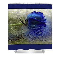 Shower Curtain featuring the digital art Misty Blue by Terry Foster