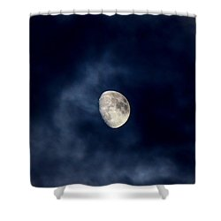 Blue Vapor Shower Curtain