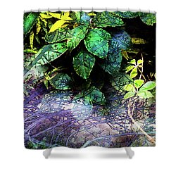 Misty Branches Shower Curtain