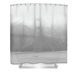 Misty Bridge Shower Curtain by Donna Blackhall