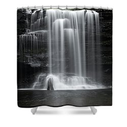 Misty Canyon Waterfall Shower Curtain