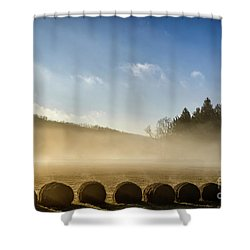 Shower Curtain featuring the photograph Misty Country Morning by Thomas R Fletcher