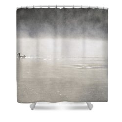Misty Duck Shower Curtain