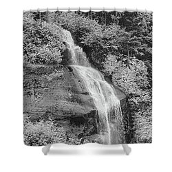 Misty Fjord Falls Shower Curtain