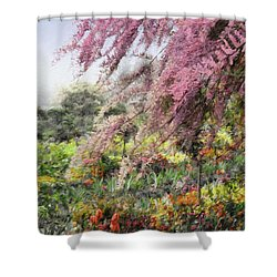 Misty Gardens Shower Curtain