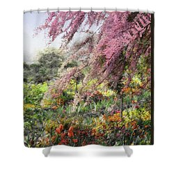 Shower Curtain featuring the photograph Misty Gardens by Jim Hill