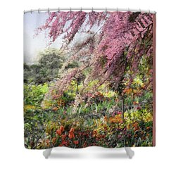 Misty Gardens Shower Curtain by Jim Hill