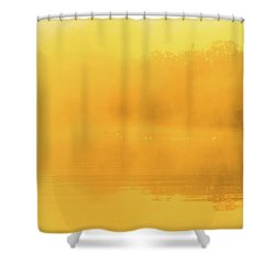 Misty Gold Shower Curtain