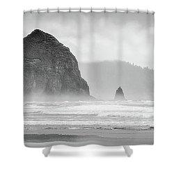 Misty Haystack Shower Curtain