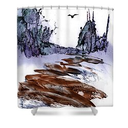 Misty Heights Shower Curtain