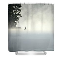 Misty Heron Shower Curtain