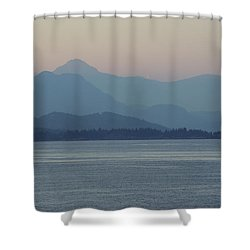 Misty Hills On The Strait Shower Curtain