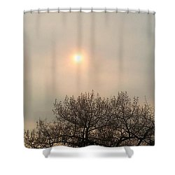 Lazy Hazy Sunset Shower Curtain