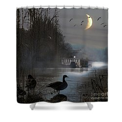 Misty Moonlight Shower Curtain
