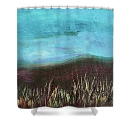 Misty Moors Shower Curtain by Donna Blackhall