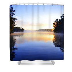 Misty Morining Shower Curtain