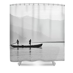 Misty Morning 3 Shower Curtain