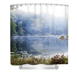 Misty Morning At John Burroughs #1 Shower Curtain