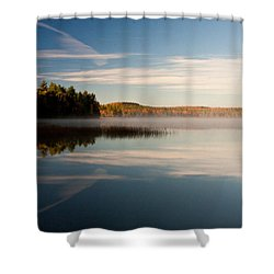 Misty Morning Shower Curtain by Brent L Ander
