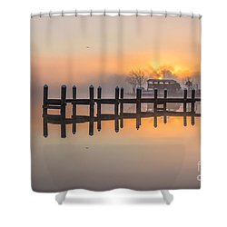 Misty Morning Shower Curtain by Brian Wright