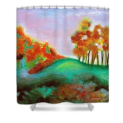 Misty Morning Shower Curtain by Elizabeth Fontaine-Barr