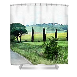 Misty Morning In Umbria Shower Curtain