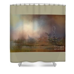Misty Morning Shower Curtain by Kathy Russell