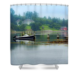 Misty Morning Shower Curtain by Ken Morris