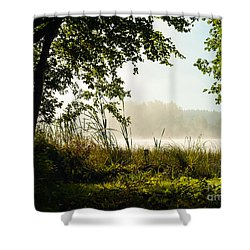 Misty Morning Light Shower Curtain