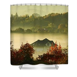 Misty Morning			 Shower Curtain by Mariola Bitner