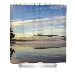 Misty Morning Shower Curtain by Mark Papke