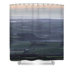 Misty Morning On Exmoor  Shower Curtain