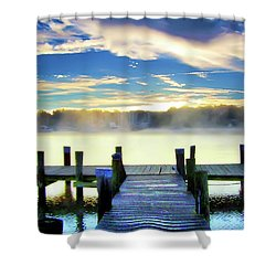 Shower Curtain featuring the photograph Misty Morning On Rock Creek by Brian Wallace
