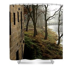 Misty Morning On The Illinois Michigan Canal  Shower Curtain