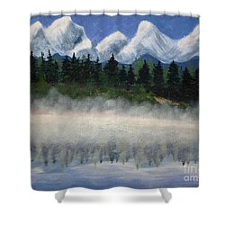 Misty Morning On The Mountain Shower Curtain