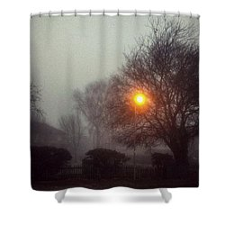 Shower Curtain featuring the photograph Misty Morning by Persephone Artworks