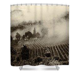 Misty Morning Shower Curtain by Silvia Ganora