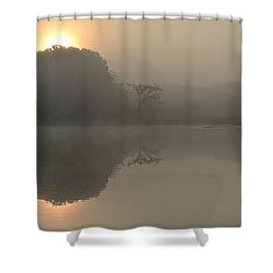 Misty Morning Water Shower Curtain