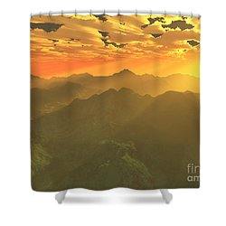 Misty Mornings In Neverland Shower Curtain by Gaspar Avila
