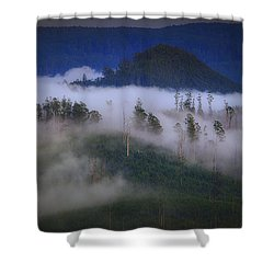 Misty Mountains Shower Curtain by Tim Nichols