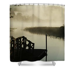 Misty Oregon Morning Shower Curtain