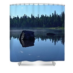 Misty Summer Morning Shower Curtain