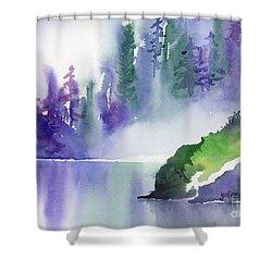 Misty Summer Shower Curtain