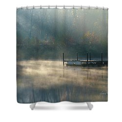 Shower Curtain featuring the photograph Misty Sunrise by George Randy Bass