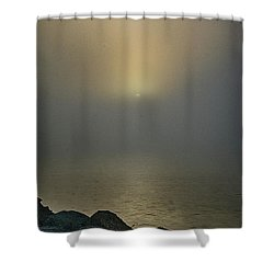 Misty Sunrise Morning Shower Curtain