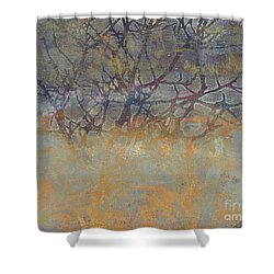 Misty Trees Shower Curtain