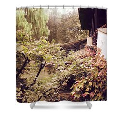 Misty Willows Shower Curtain