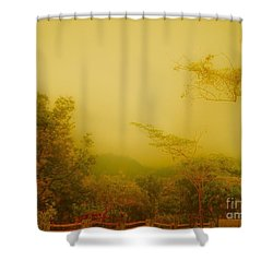 Misty Yellow Hue- El Valle De Anton Shower Curtain