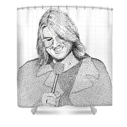 Mitch Hedberg In His Own Jokes Shower Curtain by Phil Vance