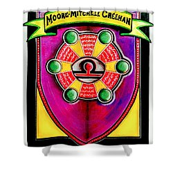 Mitchell-creehan Ancestral Healing Family Crest Shower Curtain by Ahonu